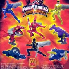 Power Rangers Dino Thunder Happy Meal toys