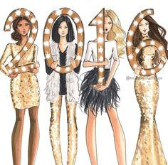 Happy New Years!!! @hnicholsillustration/ hnillustration.etsy.com| Be Inspirational ❥|Mz. Manerz: Being well dressed is a beautiful form of confidence, happiness & politeness