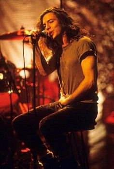 Eddie...MTV unplugged. I remember watching this when it first aired and thinking how absolutely beautiful he is with his lyrics, music, demeanor and of course physically. I've been hooked since.
