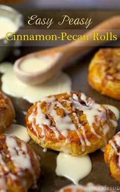 """""""Oh my goodness!!!"""" That's what we said when we took the first bite! Wow! Really good! Easy Peasy Cinnamon-Pecan Rolls"""