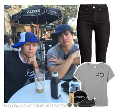 """""""Fun day out w/ Calum and Ashton"""" by amberamelia-123 ❤ liked on Polyvore featuring Monki, Manolo Blahnik, CO, NIKE and Oliver Peoples"""