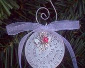 Child Baby Memorial Christmas Ornament Handstamped... would be perfect for MAtthew... with the butterfly