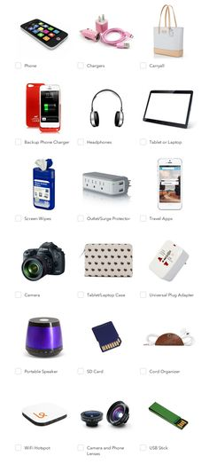 The ultimate tech packing checklist so you never leave anything behind!