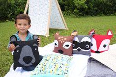 Woodland Friend Pillowcase Pillow Ideas, Animal Pillows, Pillow Forms, Woodland Animals, Crochet Animals, 4th Birthday, Cuddling, Pillow Cases, Kids Rugs