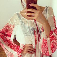 valentina vidrascu folk blouse in silk chiffon