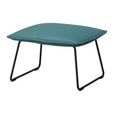 IKEA - VILLSTAD, Footstool, Samsta turquoise, , The moulded high resilience foam provides great comfort that will last for years.The cover is fixed, very resistant to abrasion and easy to clean using the soft brush attachment on your vacuum.
