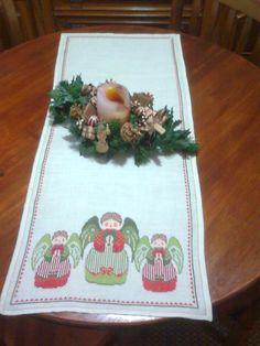 Natal - centro de mesa (feito mim, tenho esquema)