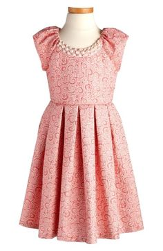 Iris & Ivy Embellished Jacquard Dress (Toddler Girls, Little Girls & Big Girls) available at #Nordstrom