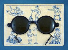 Vintage sunglasses in packaging.