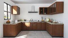 Straight Modular Kitchen In Higloss Laminate Finish In Delhincr Amazing Modular Kitchen U Shaped Design Design Ideas