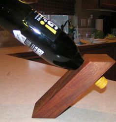 How to make a gravity defying wine bottle holder