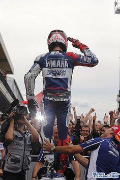 Lorenzo, Pedrosa y Márquez con el mismo objetivo, la victoria. #MotoGP #motorcycles #motos