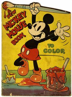 A New Mickey Mouse Book to Color (Saafield, 1937)