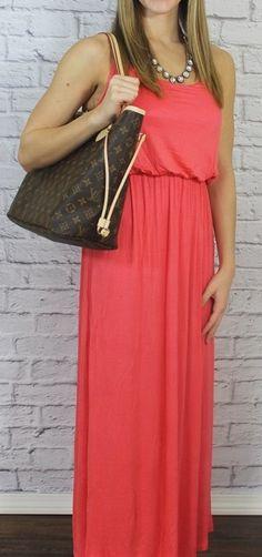 Genevieve Solid Long Maxi Dress - 5 colors {Jane Deals}