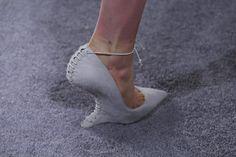 heeless pumps at marchesa. #nyfw #fw14 #shoeporn