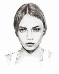 Nadia Coolrista fashion illustration Nadia Coolrista is a fashion illustrator based in Russia. She make realistic fashion sketches of the fashionista. Tattoo Gesicht, Comic Face, Art Drawings Beautiful, Illustration Mode, Cara Delevingne, Drawing Sketches, Sketching, Cool Artwork, Illustrators