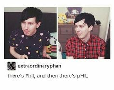 This set is a perfect example of why you should never judge a person by one meeting; look at how different Phil is compared to himself in just two pictures. We get to see two completely different aspects of his character. Different aspects, still Phil, still awesome. Never judge at first glance: you will always miss out.