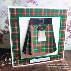 Winter Holiday Blog Hop - Happy Hogmanay Easy Kilt Card - KISS Kreative Host Gifts, Thank You For Purchasing, Scottish Tartans, Paper Pumpkin, Winter Holidays, Stampin Up, Card Making, Kiss, Crafty