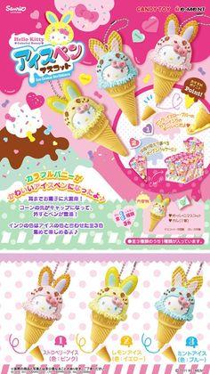 "HELLO KITTY ""colorful ice bunny mascot pen""  HELLO KITTY「カラフルバニー アイスペンマスコット」"