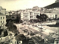Once upon a time (Athens Greece Pictures, Old Pictures, Old Photos, Vintage Photos, Athens Hotel, Athens Greece, Good Old Times, The Good Old Days, Old Greek