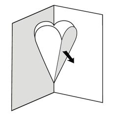 Make a pop-up card of hearts - English