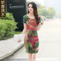 Listen sweet water women's summer wear the new 2013 south Korean silk fashion summer han edition cultivate one's morality dress skirt