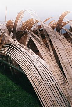 CAM INDC Artist-Tetsunori Kawana and Stephen Talasnika at the Denver Botanic Gardens: Bamboo Bamboo Architecture, Landscape Architecture, Landscape Design, Landscape Model, Bamboo Art, Bamboo Crafts, Denver Botanic Gardens, Bamboo Structure, Bamboo Construction