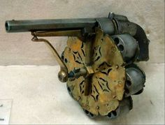 Cap and ball revolver with extra cylinders attached (63 pieces)