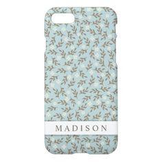 Rustic Pretty Floral Zazzle iPhone 7 Case - chic design idea diy elegant beautiful stylish modern exclusive trendy