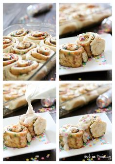 Cake Batter Cake Mix Cinnamon Rolls on chef-in-training.com ...These could be the easiest and most delicious cinnamon rolls ever! #recipe #dessert