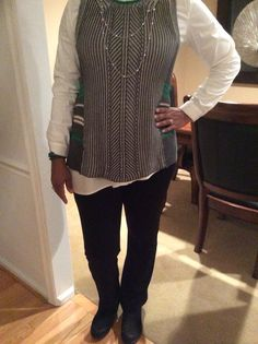 CAbi - Trident Vest, Chic shirt, Black My Favorite Trousers