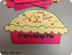 "Friendship Pie Activity- Great supplement for the book ""Enemy Pie by Derek Munson"" Preschool Friendship, Friendship Crafts, Friendship Lessons, Friendship Activities, Friendship Group, Friendship For Kids, Elementary School Counseling, School Social Work, School Counselor"