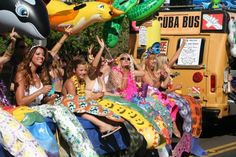 Whale Day Parade 2013 has lots of mermaids. Can you guess how they made their mermaid costumes?