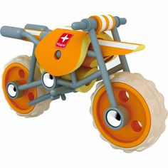 $24.99 - Off to the races with this super slick, bamboo motorcycle from Hape.r•  The E Moto has a bamboo body and is lightweight and durable.r•  Making the e-moto perfect for little hands to manipulate.r•  Need to rest for a bit? Just set up the kickstand and check out the cool design.r•  Product size: 6.89/2.76/4.13 (l/w/h in inchInterested in Eco Friendly Toys? Click here and see all we have to offer!