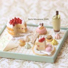 Miniature birthday tea set