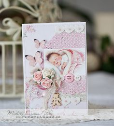 Wild Orchid Crafts: Baby girl card