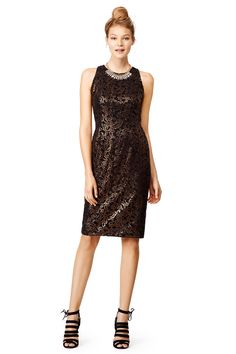 Copper Elements Dress by Carmen Marc Valvo. #NewYearsEve #NYE