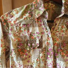 Western style snap down blouse Western style snap down blouse. Perfect for festivals! Great condition! Lucky You Tops Button Down Shirts