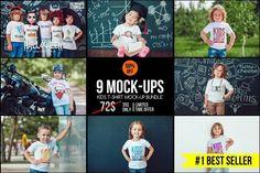 Kids T-Shirt Mock-Up's Mega Bundle by Freeman Studio on @creativemarket