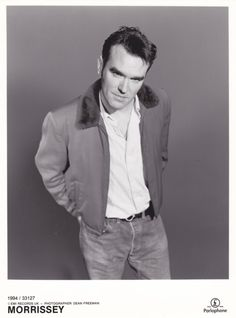 morrissey-scans: 1994 promo photo by Dean Freeman. Download full size scan HERE.
