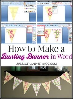 Free Banner Template Word Unique How to Make A Bunting Banner In Word with Clip Art Tips Pennant Banner Template, Free Banner Templates, Free Printable Banner, Diy Banner, Pennant Banners, Bunting Banner, Buntings, Origami Templates, Box Templates