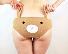 Bunny face knickers with ears lingerie underwear von knickerocker, $37.00