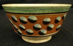 Mochaware Cat's Eye Decorated Bowl