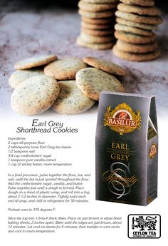 You know what works the best with a morning breakfast  and a hot cup of tea?  Some shortbread cookies are the perfect way to enjoy your morning and complement the flavour of the tea.  This cookie recipe is easy to make and rewarding. Bake this yourself and don't forget to get the reward of trying the new Basilur tea collection.