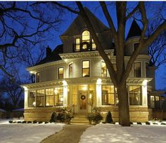 The exterior of the house used in 'The Mary Tyler Moore show'. This gorgeous Victorian in Minneapolis went on sale for nearly three million dollars.
