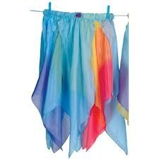 Sarah's Silks Reversible Silk Toddler Fairy Skirt - Blue and Rainbow Fairy Skirt, Modern Crib, Crib Skirts, Playing Dress Up, Ballet Skirt, Silk, Swimwear, Blue, Clothes