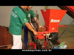 (28) Machine or Press Ecological Bricks   Eco Brava Line - YouTube