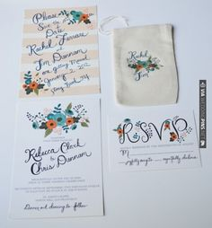The whole suite! Teal and Tangerine Wedding Bliss by Loft Life Press | VIA #WEDDINGPINS.NET