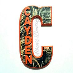 RealTree Max4 Camo Letter with Child's Name  by AlbonsBoutique. Order today!