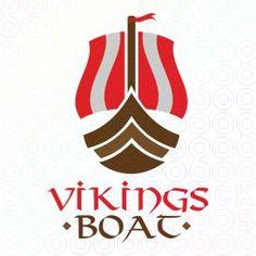 Exclusive Customizable Ship Logo For Sale: Vikings Boat | StockLogos.com